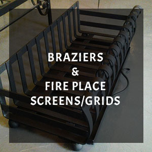 metal brazier fireplace screen