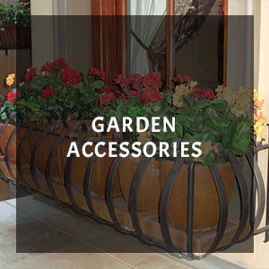 wrought iron garden accessories